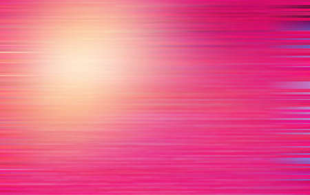 Abstract background with horizontal pink lines and flare lighting mixed with motion blur effect. Banque d'images