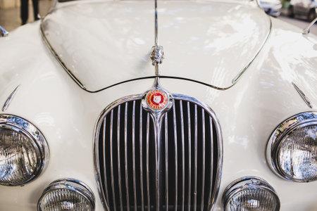 Valencia, Spain - January 22, 2021: A 3/4 liter Jaguar luxury vintage car. Éditoriale