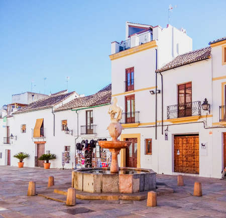 Traditional square in a typical Andalusian city in southern Spain, Córdoba. Imagens