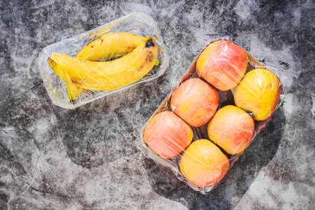 Plastic waste is unsustainable, polluting unnecessary fruit wrap.
