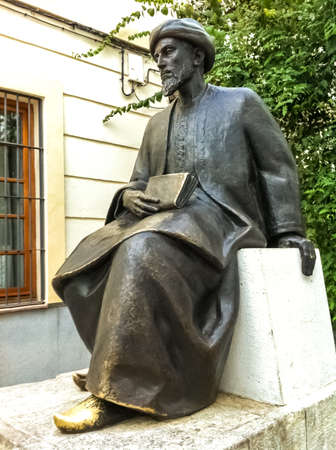 Statue to Maimonides in the city of Cordoba, Spain. 新闻类图片