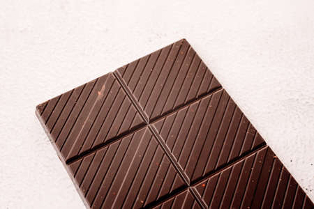 Tablet of delicious and nutritious black cocoa, rich in magnesium and theobromine