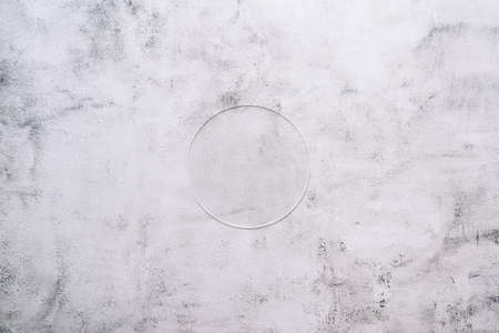 Marble background with a transparent circle in the center of laboratory and research environments. 免版税图像