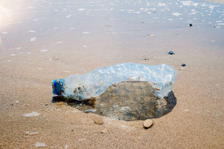 Microplastics on beaches abound due to plastic waste that is thrown into the sea.