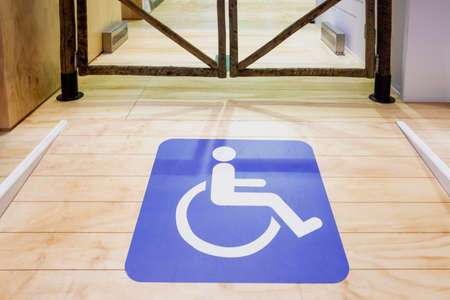 Access ramp for people in wheelchairs. 免版税图像