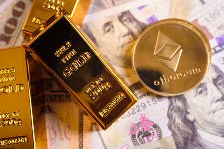 Ethereum is a cryptocurrency that gains value from gold, which has appreciated in investment markets.