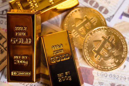 Bitcoin gains value from gold, which appreciated in investment markets.