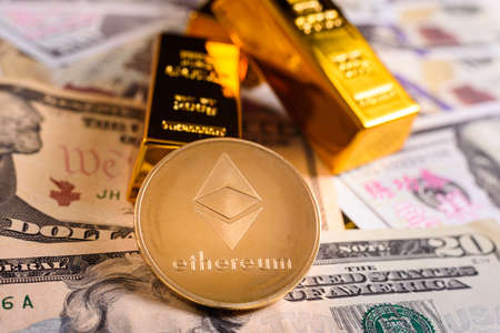 Ethereum is the cryptocurrency most desired by investors, with the most benefits from altcoins. 免版税图像