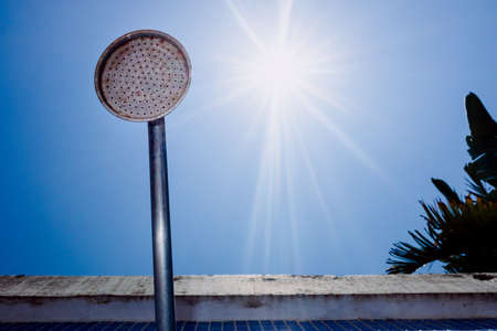 In summer the drought forces restrictions and water cuts, tap in the dry sun.