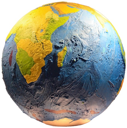 Detailed Earth globe; you can see Africa continent. Stock Photo