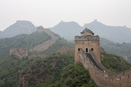 allegedly: Chinese wall - One of the most impressive structures ever built by men. Allegedly the only man made object that can be seen from space! Stock Photo