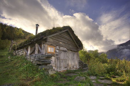 Cottage found during a hike in Norway