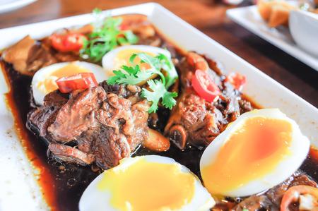 stewed: stewed pork leg in gravy Stock Photo