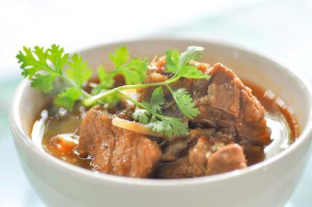 Northern Thai style pork curry with garlic,pork stew dish