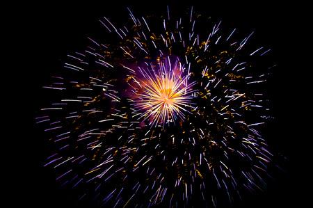 guy fawkes night: fuochi d'artificio che esplodono nel cielo notturno Archivio Fotografico