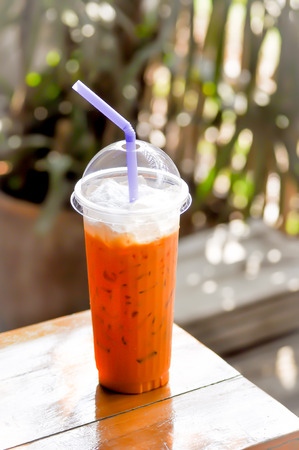 iced tea: iced  tea with milk,thai tea