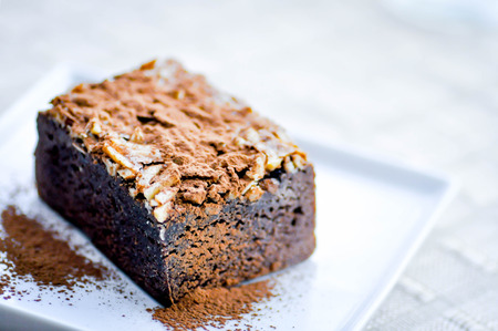 topping: brownie with almond topping