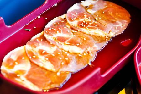 raw pork: raw pork,sliced pork or pork dish