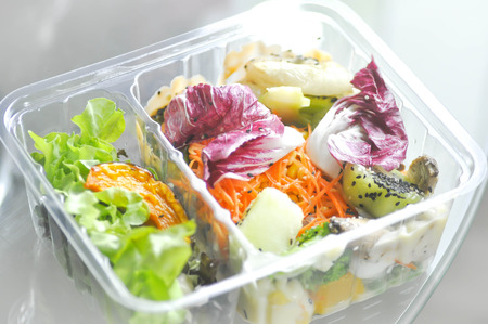 fruit and vegetable salad box