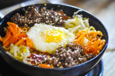 korean food: Korean food, Mixed Rice Bibimbab Stock Photo