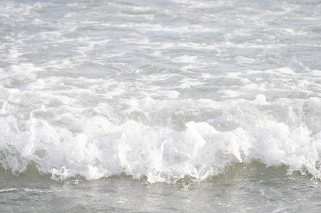 spurt: the spatter water from the sea Stock Photo