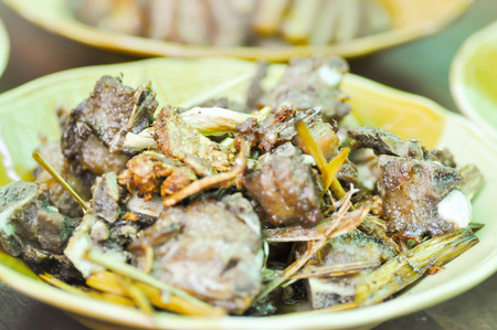lemon grass: fried pork rib with lemon grass dish