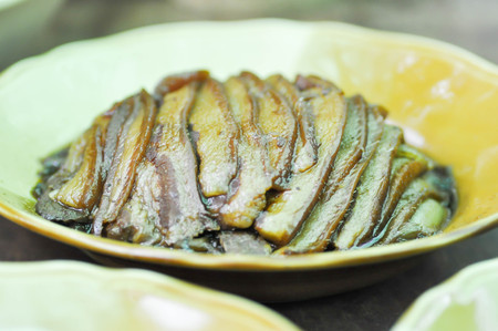 stewed: stewed pork or sliced pork dish