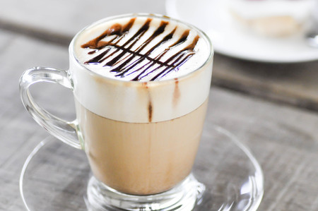 hot cocoa: a cup of hot cocoa ,hot coffee or hot chocolate Stock Photo
