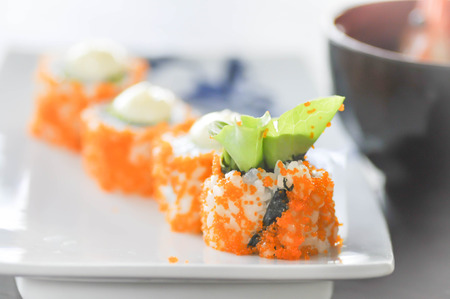 California Maki  dish, Japanese food