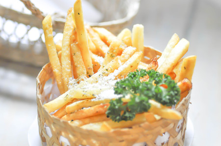 French fries in the basket Stock Photo