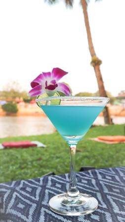 blue margarita or cocktail