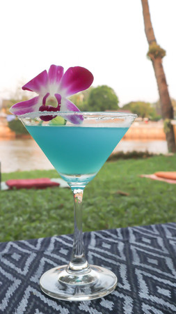 blue margarita or cocktail