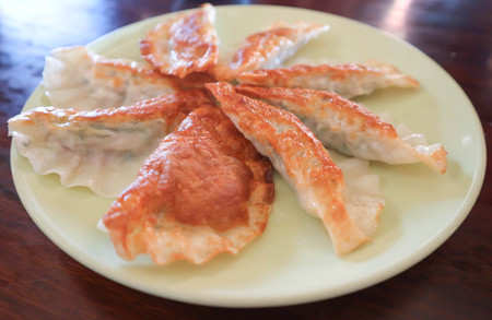 fried wonton dish on the table