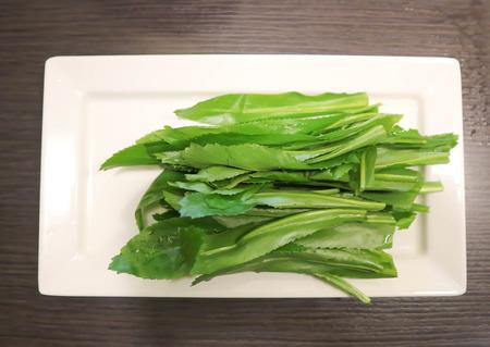 Stink weed or coriander or cilantro dish Stock Photo