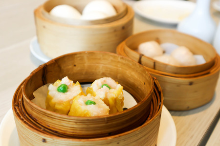 dim sum or steamed bun in Chinese cuisine