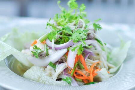 mushroom salad or spicy salad,Thai food