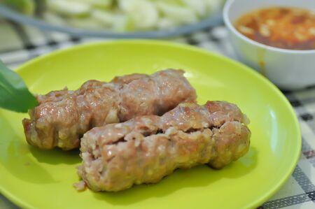grilled sausage,pork sausage or Vietnamese pork sausage