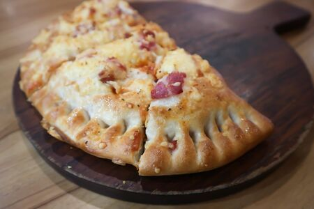 puffed pizza, pizza puff or puff pastry pizza
