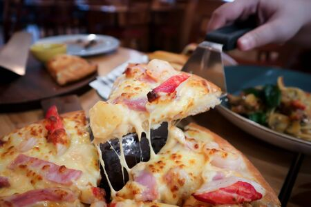 pizza,cheese pizza or shrimp and ham pizza