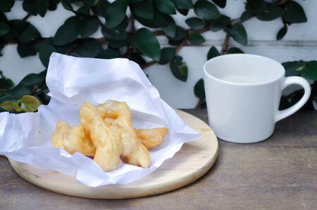 Chinese fried dough, deep-fried dough stick or Youtiao
