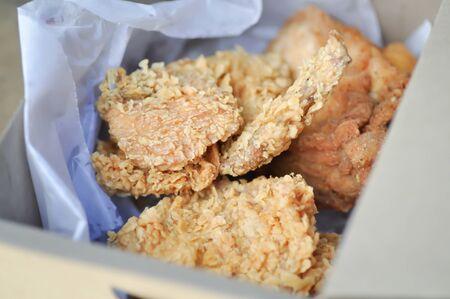 chicken or fried chicken, deep fried chicken in the box