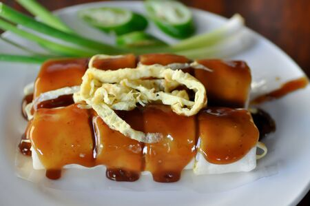 rice roll, fresh roll or vegetable roll Stock Photo