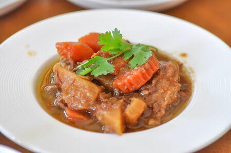 stew, pork stewed in the gravy or carrot stewed