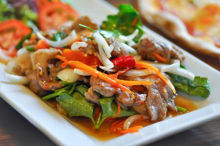 Spicy salad or pork salad, spicy salad