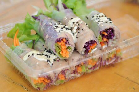 rice roll, fresh roll or vegetable rolls
