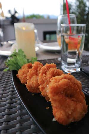 shrimp ball ,deep fried shrimp ball or fried shrimp ball