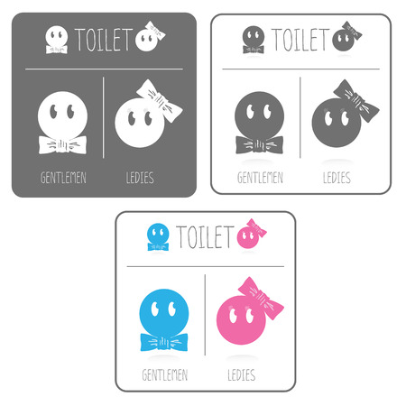 Cute restroom signs Vector