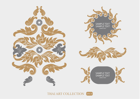 decoration design: THAI collection of calligraphic design elements and page decoration Illustration