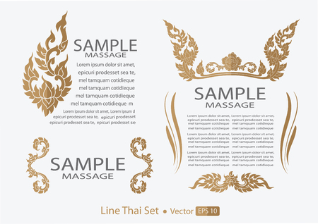 タイのコレクションのカリグラフィのデザイン要素やページ装飾  イラスト・ベクター素材