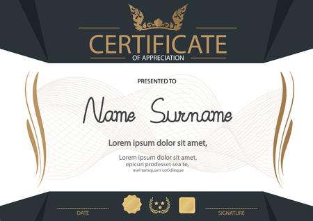 diploma: Certificado, Diploma de finalizaci�n plantilla de dise�o, fondo